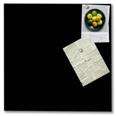 Стеклянная черная магнитно-маркерная доска Askell