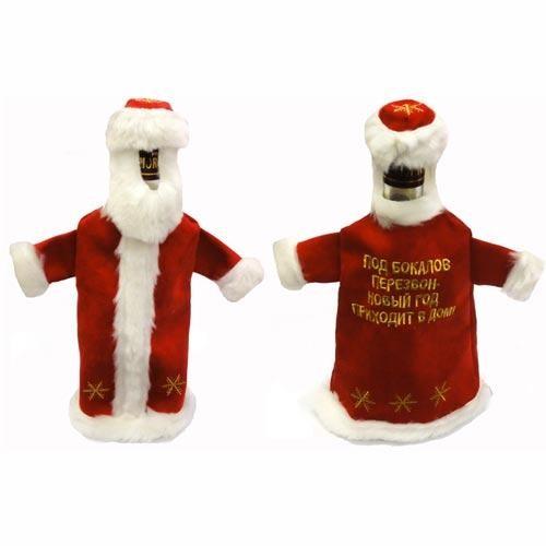 Новогодний чехол для бутылки Дед Мороз