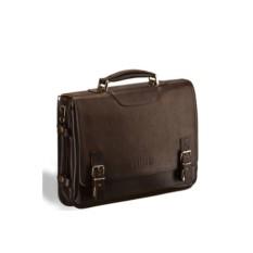 Коричневый кожаный портфель для документов Brialdi Bolzano