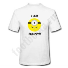 Мужская футболка с Миньоном I'm Happy