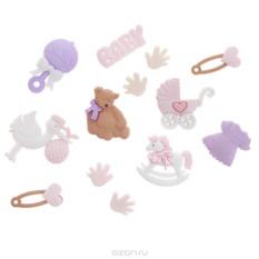 Набор пуговиц и фигурок Dress It Up Для новорожденной девочки, 10 шт