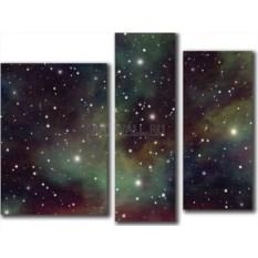 Модульная картина «Яркие звезды» 50×38 см