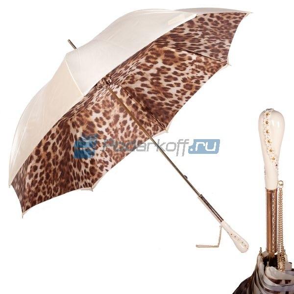 Зонт-трость Pasotti Crema Leo Swarovski