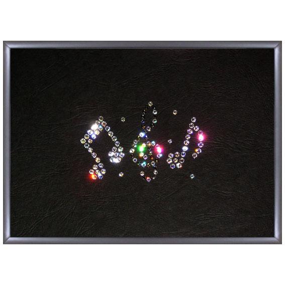Картина из кристаллов «Ноты»