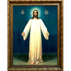 Икона на холсте Иисус в белых одеждах. Спас в белом хитоне
