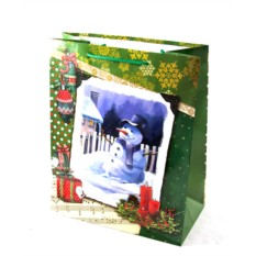 Новогодний подарочный пакет 27*33см