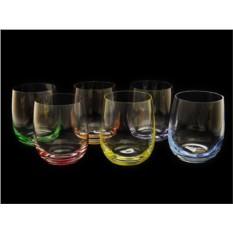 Набор стаканов для виски с разноцветным дном