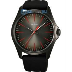 Черные часы с красными индексами Orient QC0S00AA