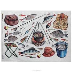 Рисовая бумага для декупажа Craft Premier Рыбалка