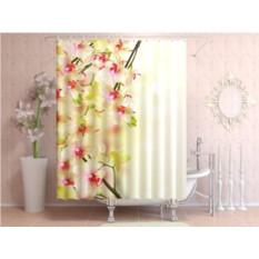 Фотоштора для ванной Воздушная орхидея