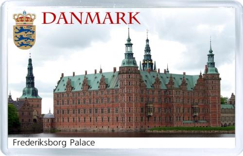 Магнит на холодильник: Дания. Замок Фредериксборг