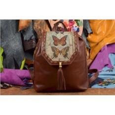 Женский рюкзак с принтом Винтажные бабочки