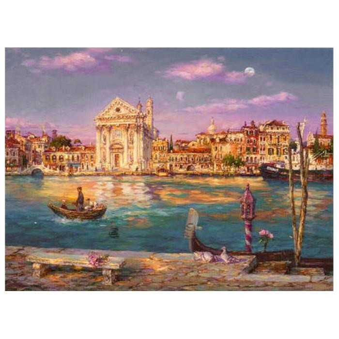 Картина-раскраска по номерам на холсте Через канал