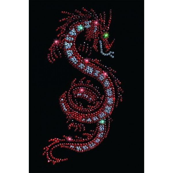 Картина Swarovski Огненный дракон