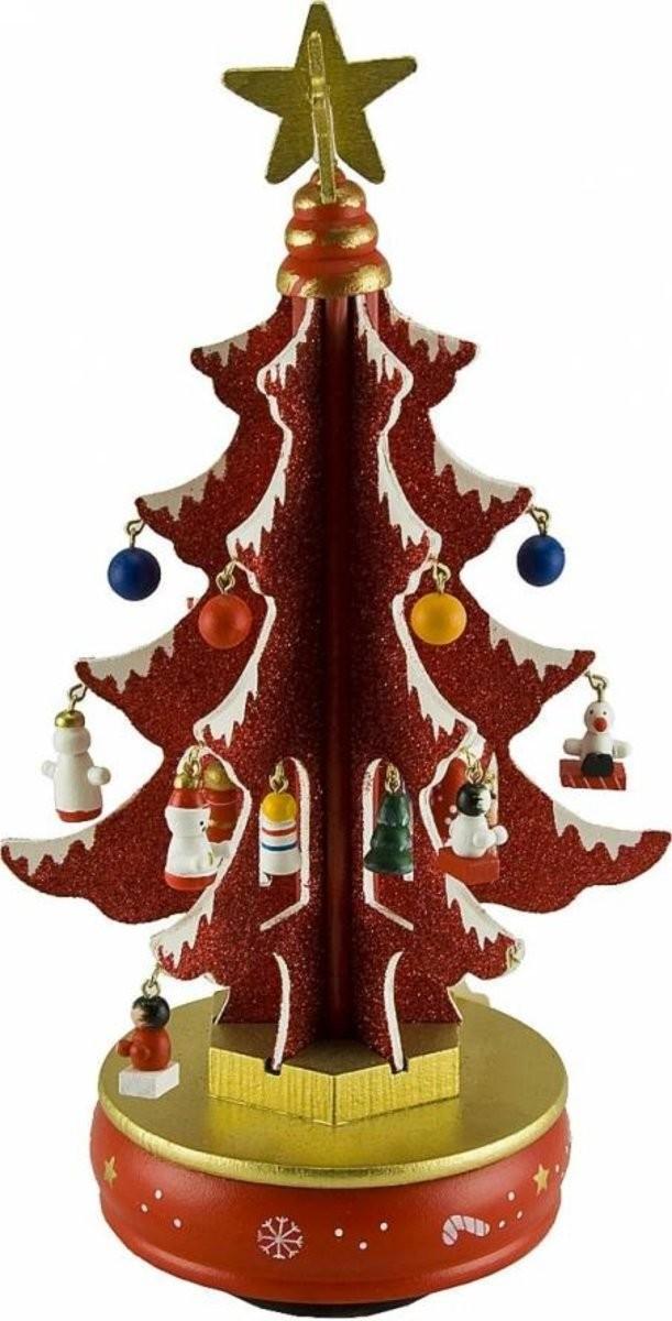 Музыкальная композиция Красная елка с украшениями