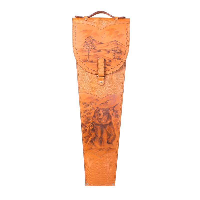 Подарочные шампура в колчане из натуральной кожи