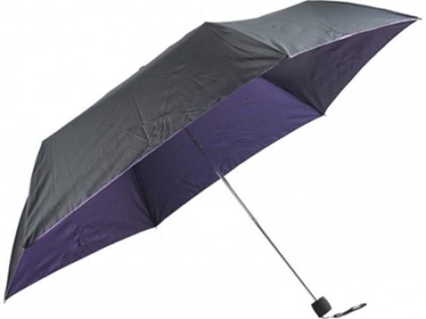 Складной сиреневый зонт