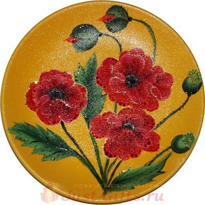 Декоративная тарелка Маки