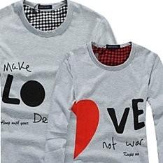 Парные футболки «Занимайтесь любовью, а не войной»