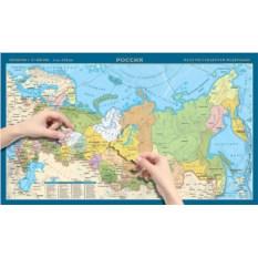 Картографический пазл по субъектам «Россия»