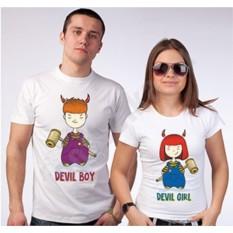 Футболки для двоих Devil girl/ devil boy