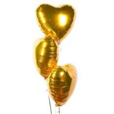 Фольгированные шары Золотые сердца