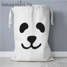 Тканевый мешок для хранения Панда
