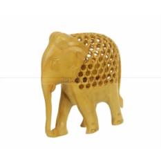 Статуэтка из дерева Слон с опущенным хоботом вниз