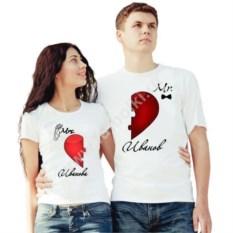 Парные футболки Mrs. Иванова и Mr. Иванов (ваши фамилии)