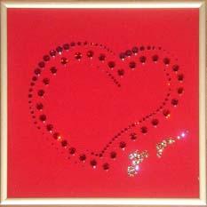 Хрустальная картина «Сердце для тебя»
