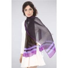 Фиолетовый шифоновый палантин Ungaro