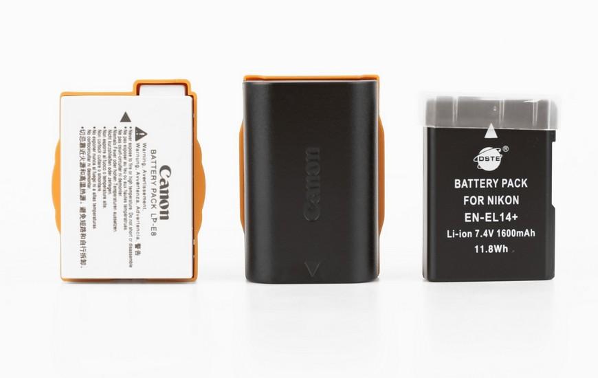 Аккумулятор Canon LP-E8 и LP-E6