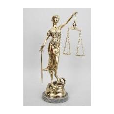 Бронзовая скульптура Богиня Правосудия
