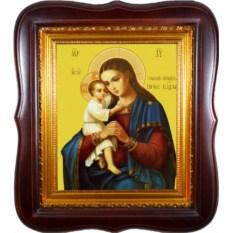 Икона Божьей Матери на холсте Взыскание Погибших