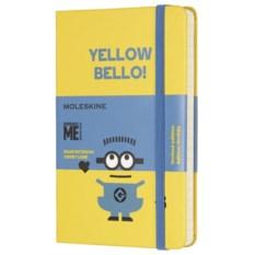 Желтая записная книжка в линейку Moleskine Minions Pocket