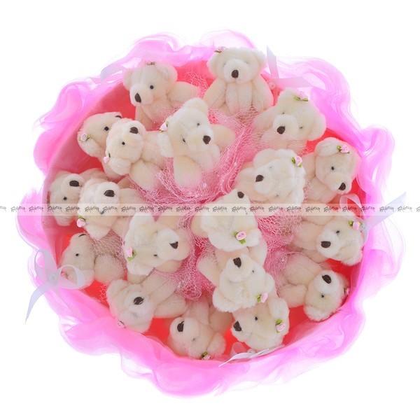 Букет из игрушек Самые нежные медвежата