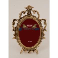 Фоторамка из бронзы Рококо, цвет золотой