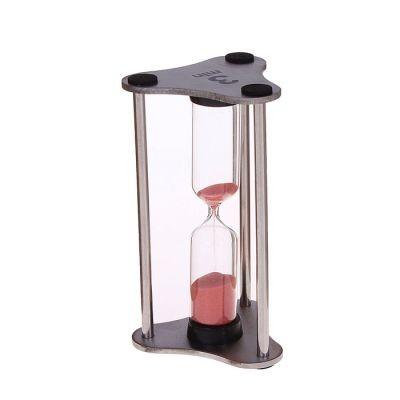 Часы песочные на 3 минуты Колонна на 3 ножках, серебро