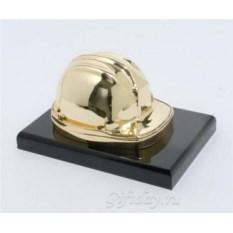 Золотая статуэтка Строительная каска