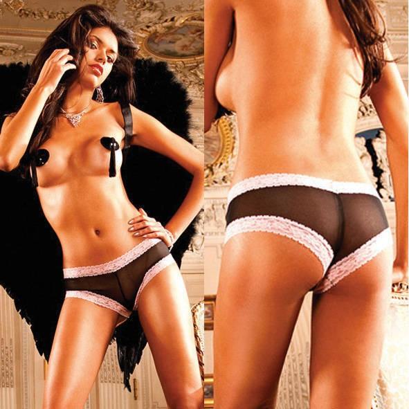 Трусики женские Angel, черно-фиолетовые