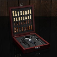 Набор для вина Шахматы под красное