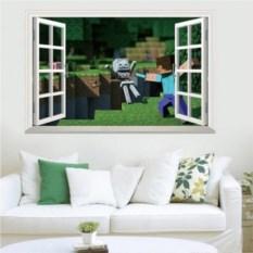 Большая наклейка на стену Minecraft