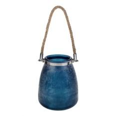 Синяя ваза для цветов Морозное утро