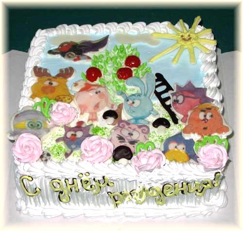 Торт «Смешарики»