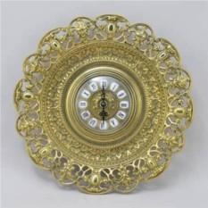 Настенные золотые часы в рамке Барокко