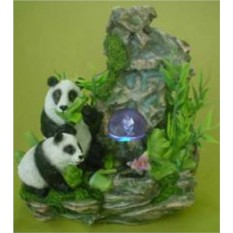 Фонтан с подсветкой Панды у скалы2