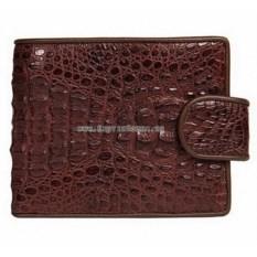 Мужской многофункциональный кошелек из крокодиловой кожи