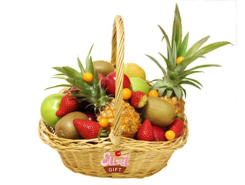 Корзина фруктов своими руками пошагово