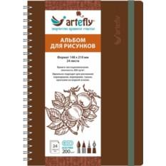Коричневый квадратный скетчбук Artefly