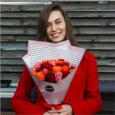 Букет из 25 красных роз Кения
